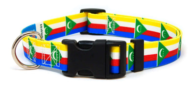 Comoros flag dog collar