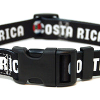 Costa Rica soccer dog collar