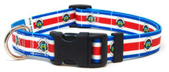 Costa Rica Costa Rican Flag Dog Collar