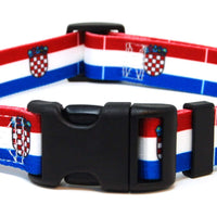 Croatia flag dog collar