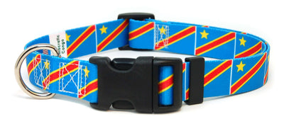 Democratic Republic of the Congo Flag Dog Collar