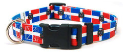 Dominican Republic Flag Dog Collar