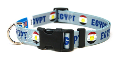 Egypt Egyptian Fútbol/Soccer Flag Dog Collar