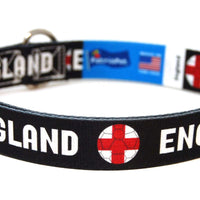 England Soccer Flag Dog Collar