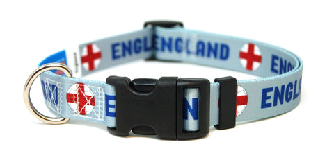 England English Fútbol/Soccer Flag Dog/Cat Collar