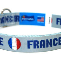 France Soccer Flag Dog Collar