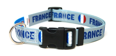 France French Fútbol/Soccer Flag Dog Collar