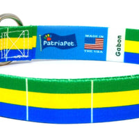 Gabon Flag Dog Collar | Cat Collar | Leash