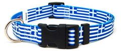 Greece - Greek Flag Dog Collar