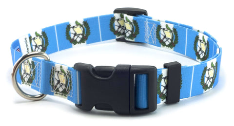 Guatemala - Guatemalan Flag Dog Collar