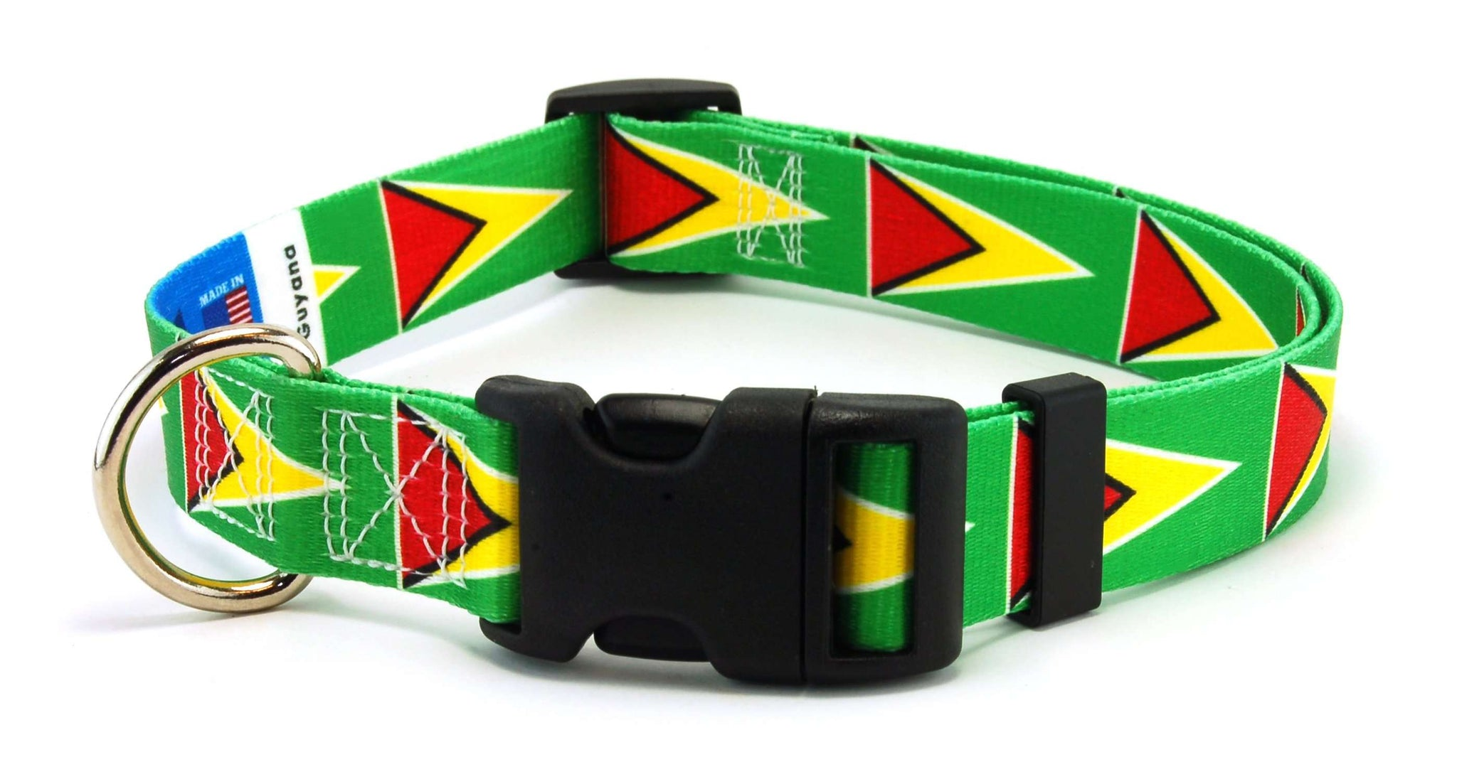 Guyana Guyanese Flag Dog Collar | Cat Collar | Leash