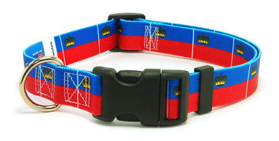 Liechtenstein Flag Dog Collar | Cat Collar | Leash