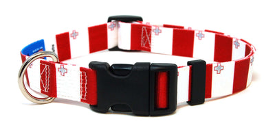 Malta Flag Dog Collar | Cat Collar | Leash
