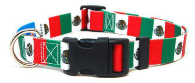 Mexico Flag Dog Collar