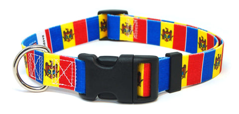 Moldova Flag Dog Collar | Moldovan