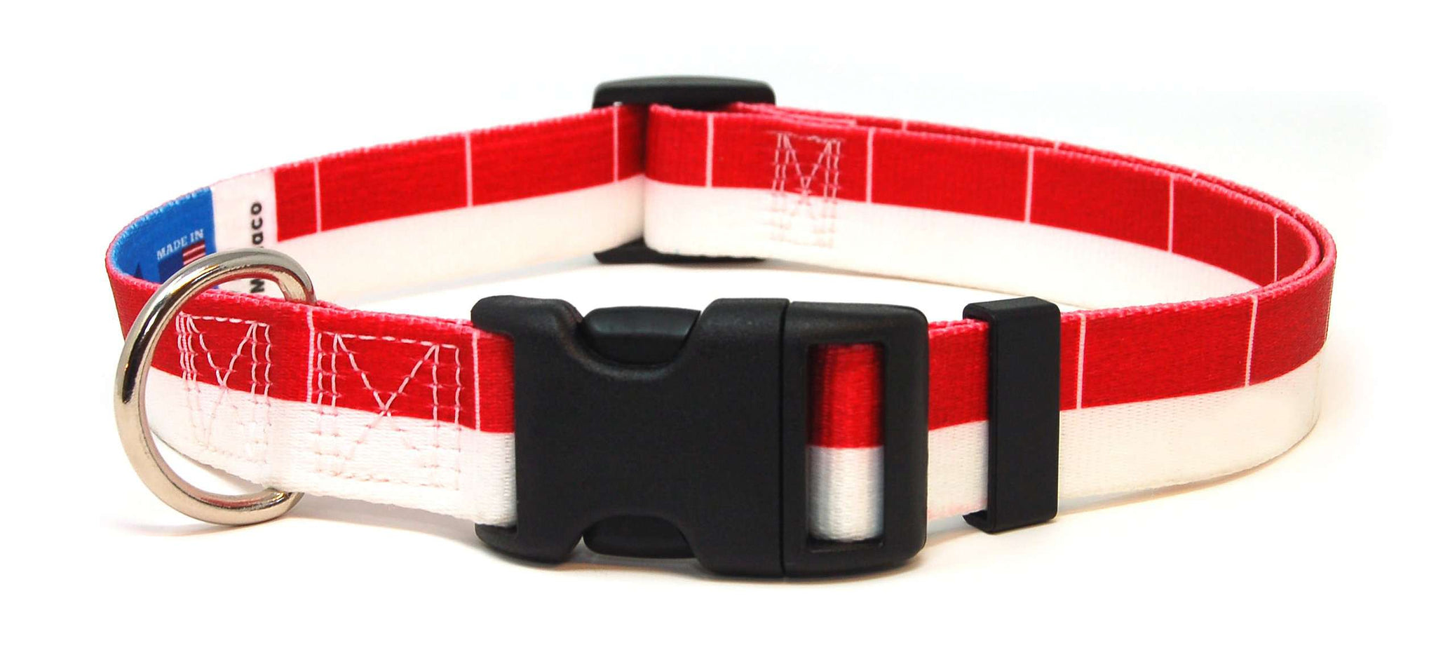 Monaco Monegasque Monacoian Flag Dog/Cat Collar