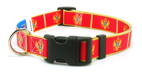 Montenegro - Montenegrin Flag Dog Collar