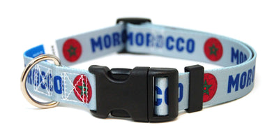 Morocco Soccer Flag Dog Collar