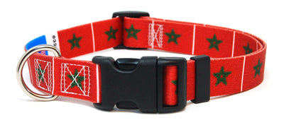 Morocco Flag Dog Collar | Moroccan