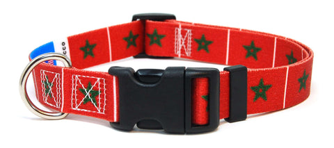 Morocco - Moroccan Flag Dog Collar