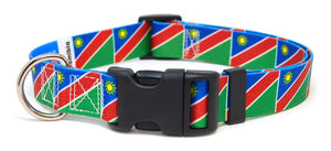 Namibian Flag Dog Collar