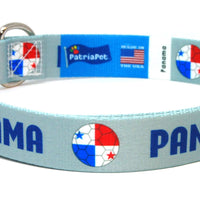 Panama Soccer Flag Dog Collar
