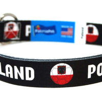 Poland Soccer Flag Dog Collar