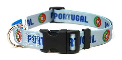 Portugal - Portuguese Fútbol/Soccer Flag Dog Collar