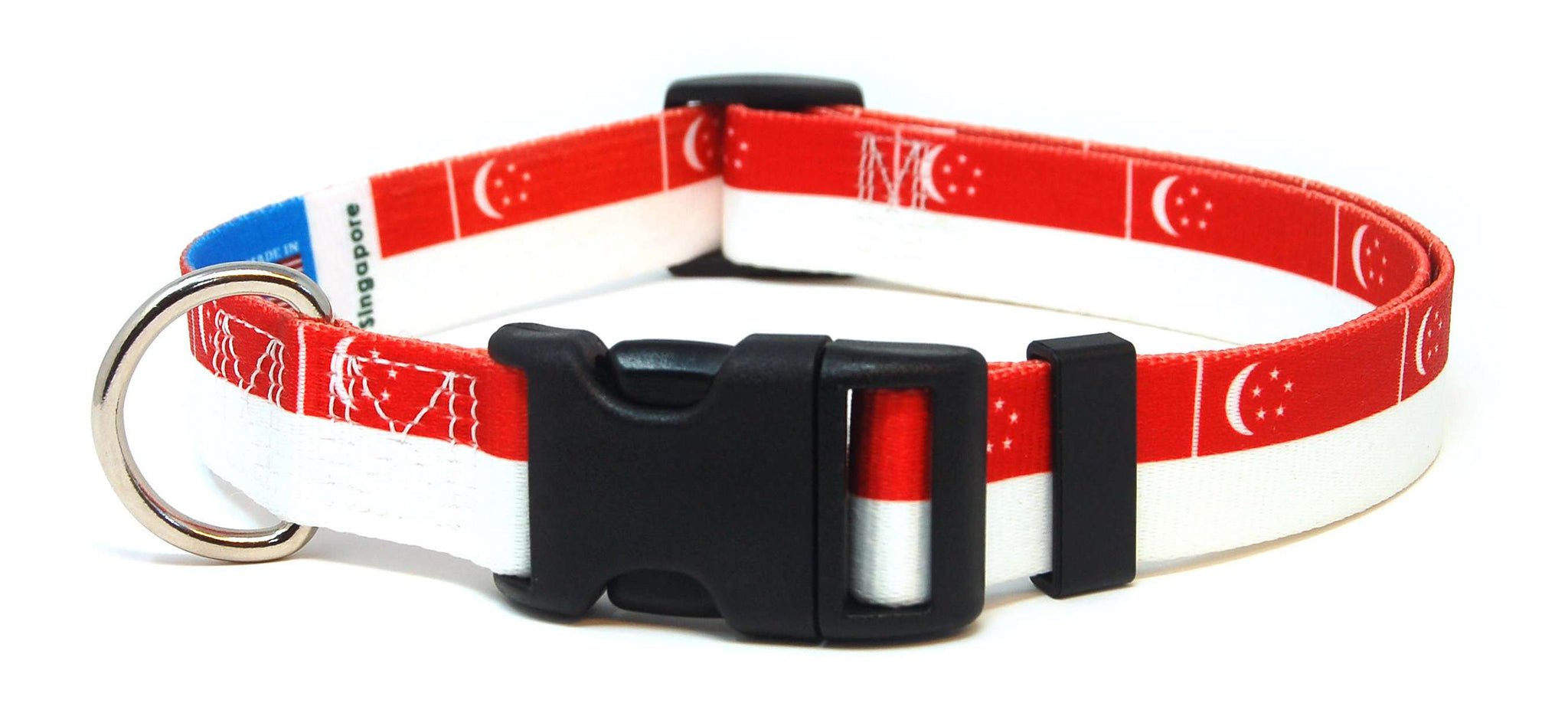 Singapore Singaporean Flag Dog/Cat Collar