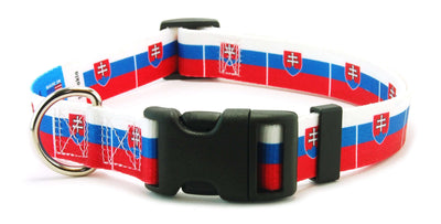 Slovakia Flag Dog Collar | Cat Collar | Leash