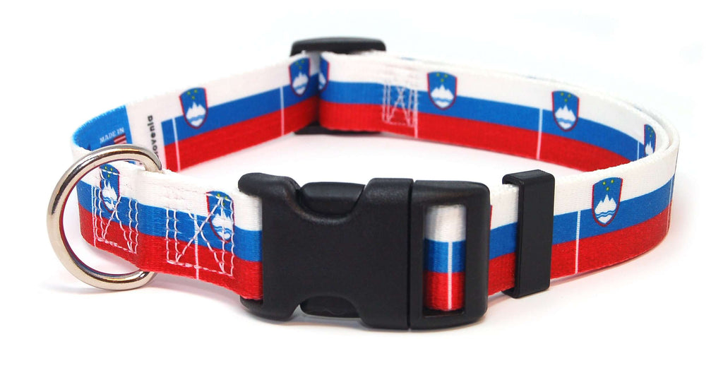 Slovenia Flag Dog Collar