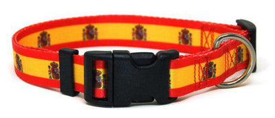 Spain Flag Dog Collar | Cat Collar | Leash