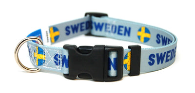 Sweden Soccer Flag Dog Collar