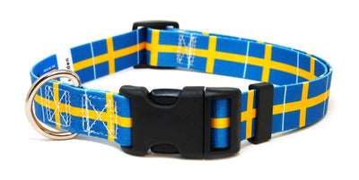 Sweden Flag Dog Collar