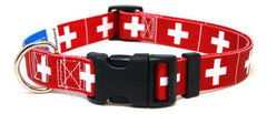 Switzerland - Swiss Flag Dog Collar