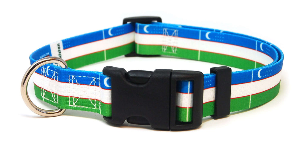 Uzbekistan Flag Dog Collar | Cat Collar | Leash