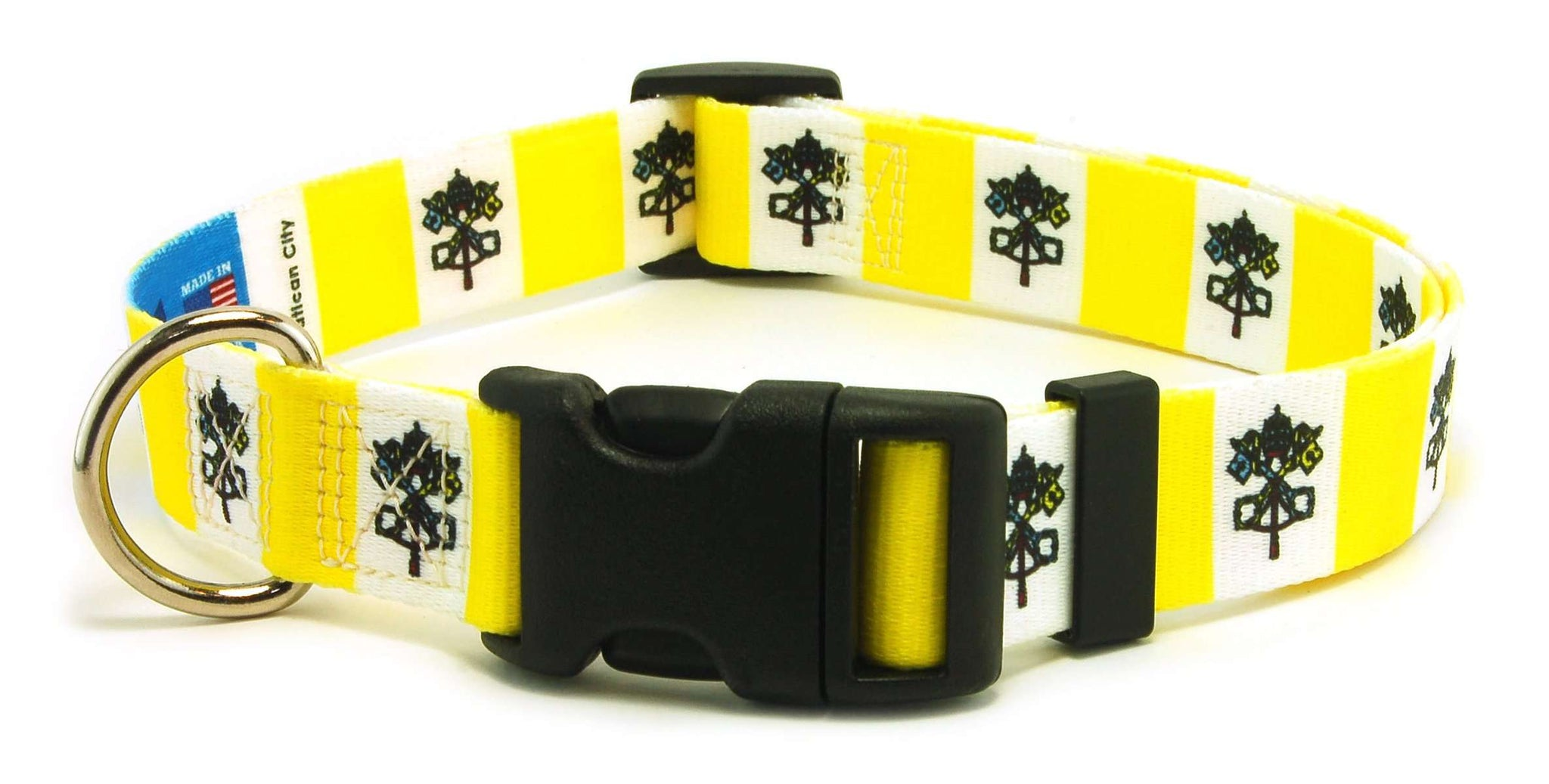 Vatican City Flag Dog/Cat Collar