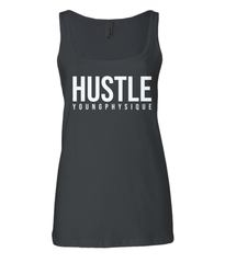 YoungPhysique Jersey Tank Top - Hustle White