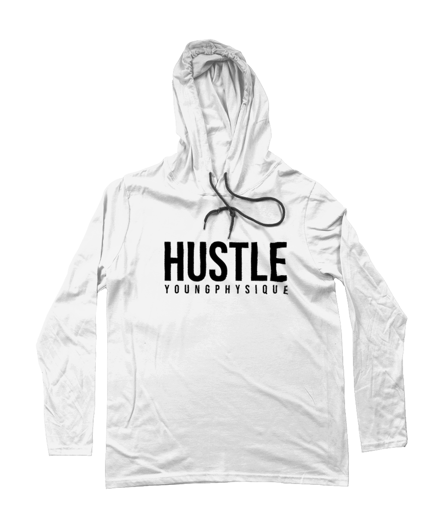 YoungPhysique Long Sleeve Hoodie - Hustle - White