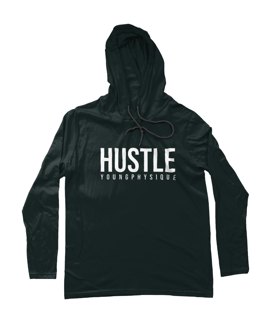 YoungPhysique Long Sleeve Hoodie - Hustle - Black