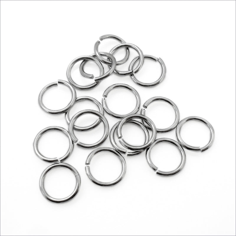 200 Stainless Steel 8mm x 1mm Jump Rings