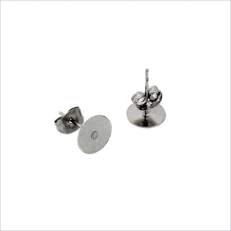25 Pairs Stainless Steel 8mm Pad Studs