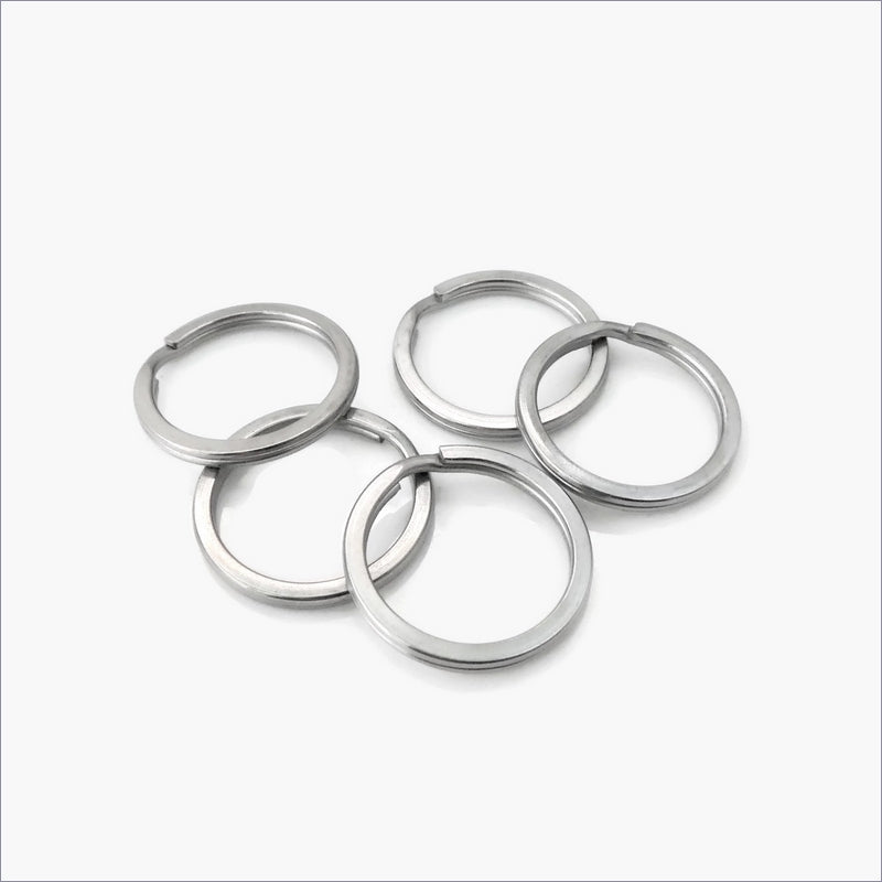 10 Stainless Steel Flat Wire 25mm Split Key Rings – Maille Addiction 6c5dcb125248