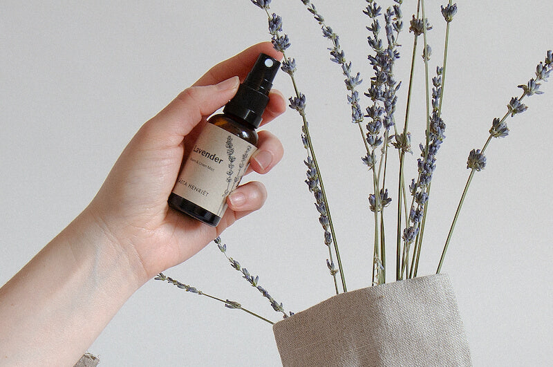 Lavender Mist scent from Blasta Henriet being sprayed