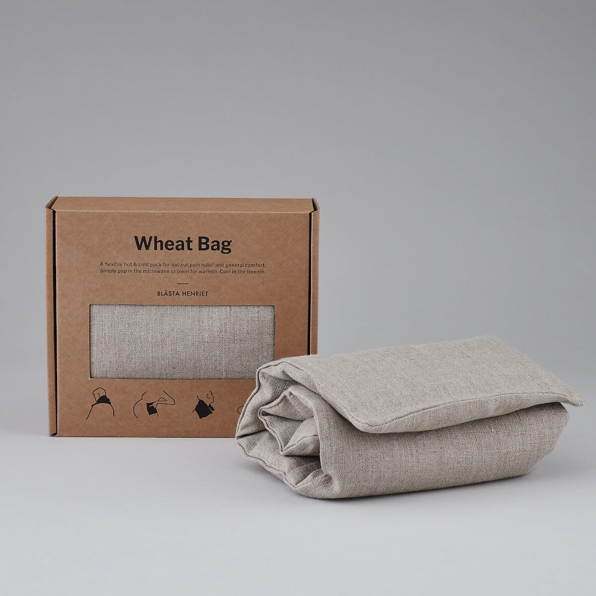 unscented wheat bag plain linen - Blasta Henriet