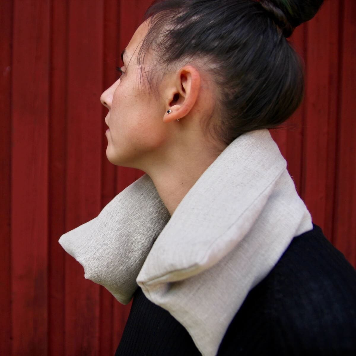wheat bag helping with neck pain