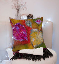 Fallen Leaves, Smooth Velvet Complete Cushion, Autumn Colours