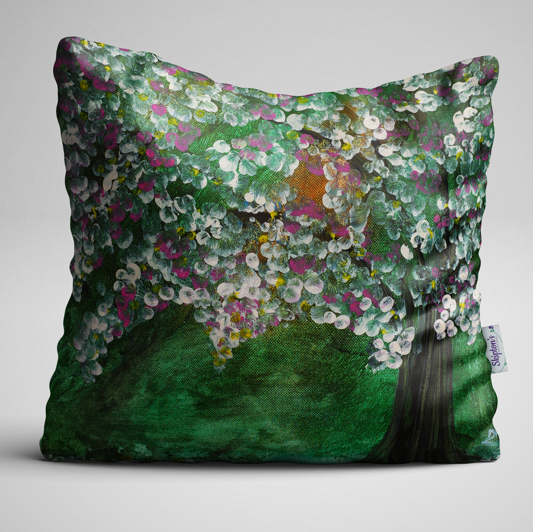 Apple Blossom, Taken from Original Oil Painting, Complete Cushion