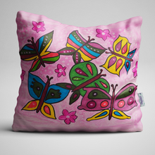 Butterfly Design, Inspired by Nature, Complete Velvet Cushion