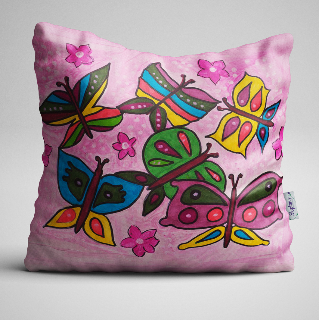 Beautiful Butterfly design on Luxury Velvet Cushion